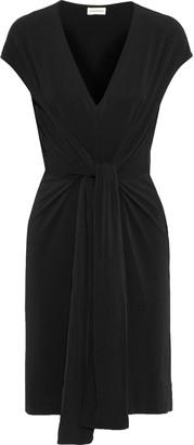 By Malene Birger Quinnas Tie-front Crepe-jersey Dress