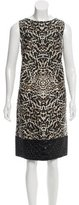 Giambattista Valli Silk & Wool-Blend Printed Dress w/ Tags