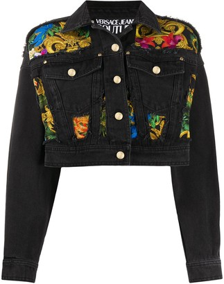 Versace Jeans Couture Baroque Panel Denim Jacket