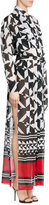 Alexandre Vauthier Printed Silk Maxi Dress