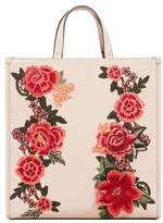MANGO Floral embroidery shopper bag