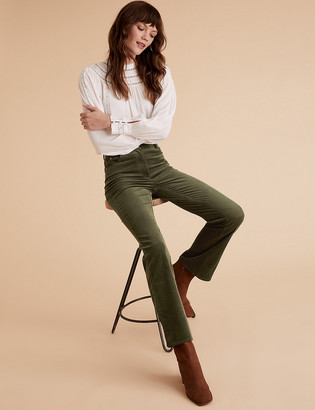 Marks and Spencer Corduroy Slim Fit Flare Trousers