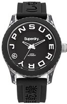 Superdry 'Tokyo' Quartz Plastic and Silicone Dress Watch, Color:Black (Model: SYL146BW)