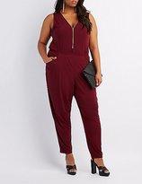 Charlotte Russe Plus Size Zip-Up Front Jumpsuit