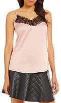 Soulmates Lace-Finished Charmeuse Camisole Top