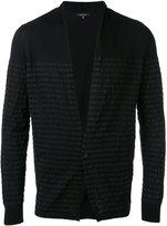 Roberto Collina striped trim cardigan - men - Cotton - 48