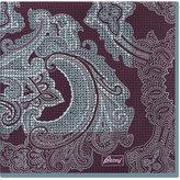 Brioni Paisley Houndstooth Silk Pocket Square