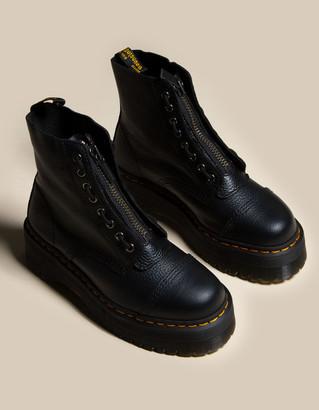 Dr. Martens Sinclair Leather Womens Black Platform Boots