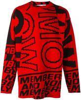 Stella McCartney Members print jumper - men - Cotton/Polyamide/Spandex/Elastane/Wool - S