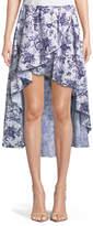 Caroline Constas Adelle Floral-Print Cotton Tulip High-Low Skirt