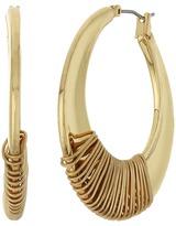 Robert Lee Morris Gold Wire Wrapped Hoop Earrings