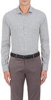 Boglioli Men's Checked Cotton Shirt-WHITE