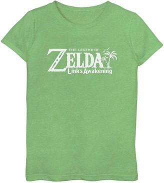 Licensed Character Girls 6-16 Nintendo Legend Of Zelda Link's Awakening Logo Top