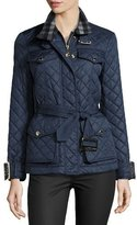 Burberry Haddingfield Quilted Jacket, Blue