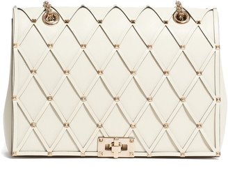 Valentino Beehive Leather Shoulder Bag