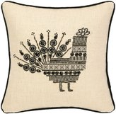 Nanette Lepore Peacock Beaded Embroidered Pillow