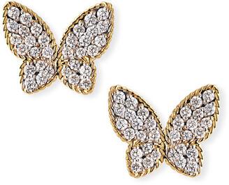 Roberto Coin 18k Diamond Butterfly Stud Earrings