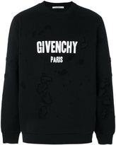 Givenchy distressed logo print sweatshirt - men - Cotton/Polyester - L