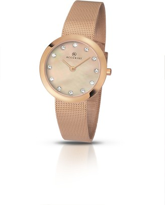 Accurist Womens Analogue Classic Quartz Watch with Stainless Steel Strap 8126