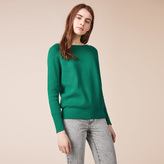 Maje Ribbed knit jumper with detailed back