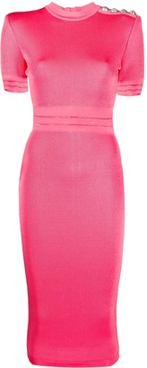 Balmain Fitted Midi Dress