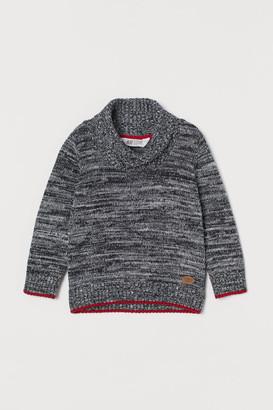 H&M Shawl-collar Sweater - Black