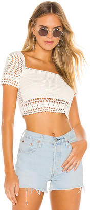 superdown Imani Crochet Crop Top