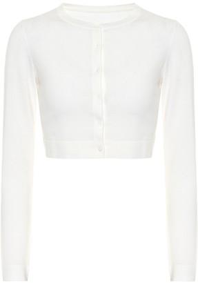 Alaia Cropped wool-blend cardigan