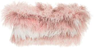 Isabel Sanchis tonal ostrich feather shrug