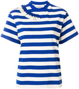 Golden Goose Deluxe Brand striped frill trim T-shirt