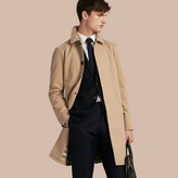 Burberry Long Cotton Gabardine Car Coat