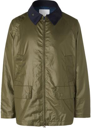 Nanamica Corduroy-Trimmed Waxed-Shell Field Jacket