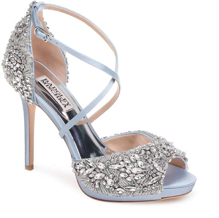Badgley Mischka Collection Hyper Crystal Embellished Sandal