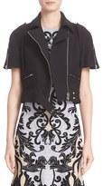 Alexander McQueen Women's Crop Wool & Silk Jacket