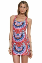 Mara Hoffman Jungle Trip Racerback Mini Dress in Red