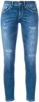 Dondup distressed cropped skinny jeans - women - Cotton/Polyester/Spandex/Elastane - 26