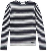 Ami - Slim-fit Striped Cotton T-shirt