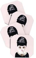 DENY Designs Coco De Paris Hepburn Cat Coaster Set