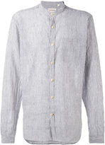 Oliver Spencer Hartley Stripe Grandad shirt - men - Cotton/Linen/Flax - 16