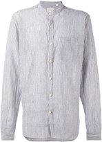 Oliver Spencer Hartley Stripe Grandad shirt - men - Cotton/Linen/Flax - 17 1/2