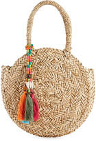 Capelli of New York Straworld Round Straw Top Handle Bag