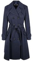 Anastasia Beverly Hills Women's Navy Winter Belted Trench Coat Blue