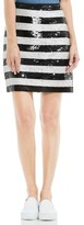 Vince Camuto Women's Sequin Stripe Skirt
