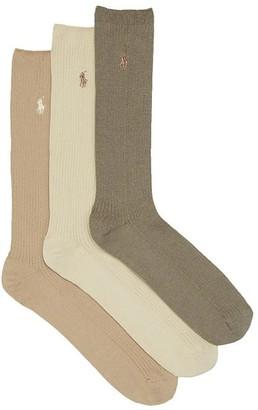 Polo Ralph Lauren Big & Tall Combed Cotton Crew Socks 3-Pack