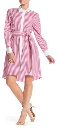 Badgley Mischka Stripe Shirt Dress