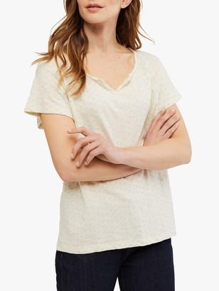 White Stuff Mini Jacquard T-Shirt, Canvas White