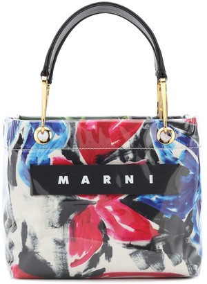 Marni Glossy Grip floral PVC tote