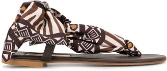 Avec Modération Scarf-Tie Sandals