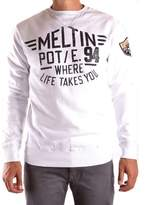 Meltin Pot Men's White Cotton Sweater.