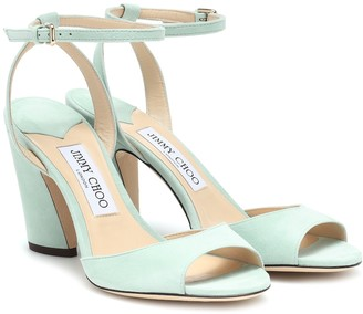 Jimmy Choo Miranda 85 suede sandals
